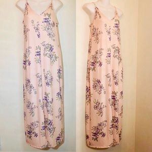 ASOS light pink floral maxi dress size 2
